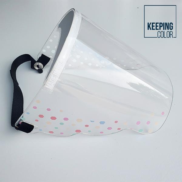 Color Dots Face Shield